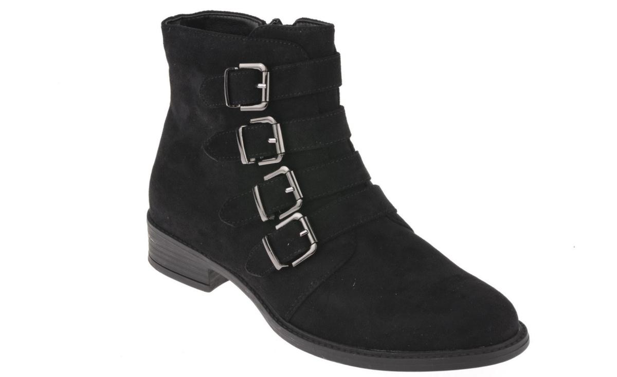a2c3ee712149ef msbuty - markowe obuwie w niskich cenach > Botki damskie Sergio Leone  BT302-01M czarny